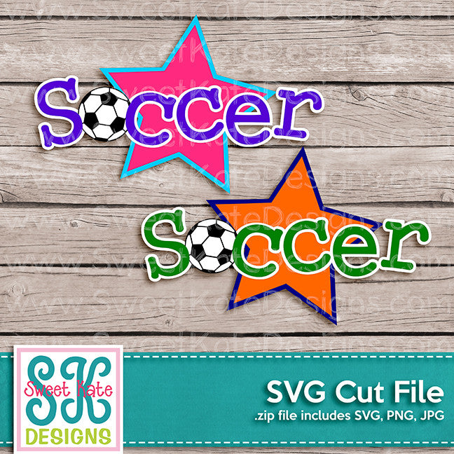 Soccer Title SVG - Sweet Kate Designs