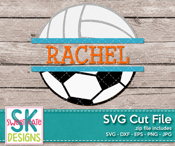 Split Soccer Ball and Volleyball - Sweet Kate Designs
