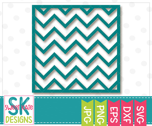 Square Chevron Overlay SVG DXF EPS PNG JPG - Sweet Kate Designs