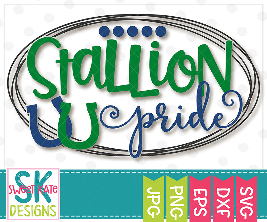 Stallion Pride SVG DXF EPS PNG JPG - Sweet Kate Designs