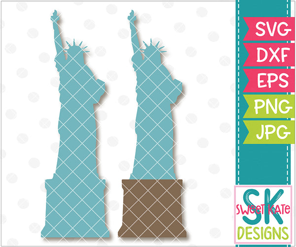 *NEW* Statue of Liberty Silhouette SVG DXF EPS PNG JPG - Sweet Kate Designs