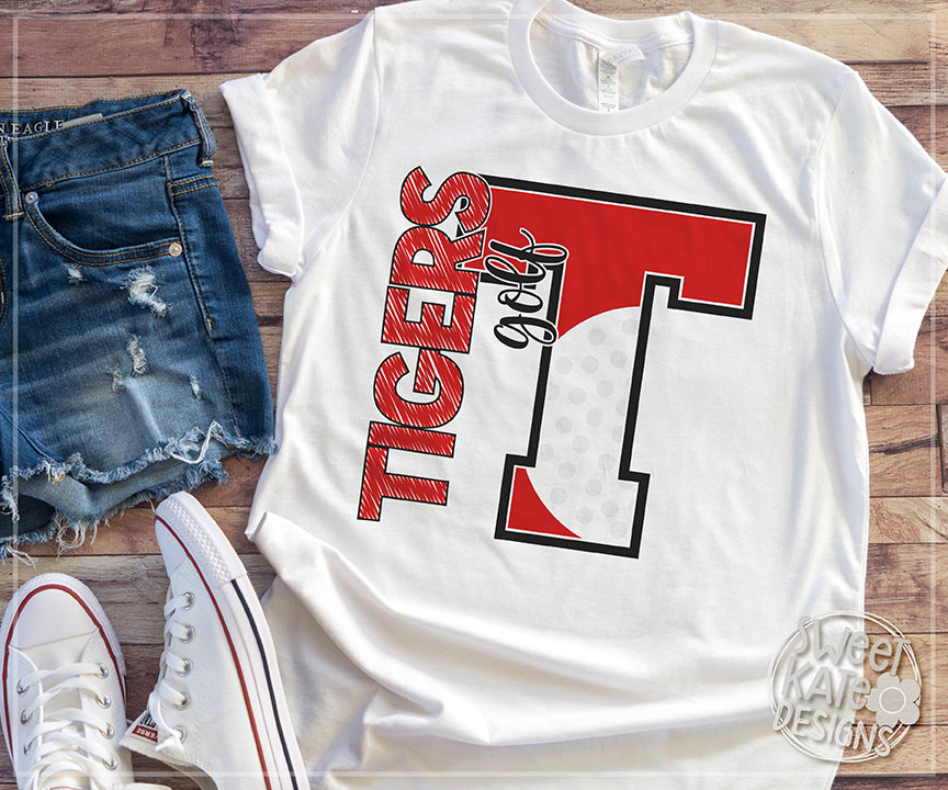 T Tigers Golf SVG DXF EPS PNG JPG - Sweet Kate Designs