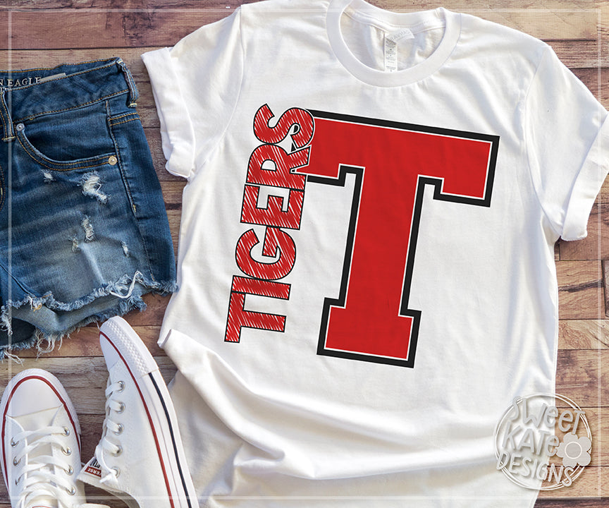 T Tigers SVG DXF EPS PNG JPG - Sweet Kate Designs