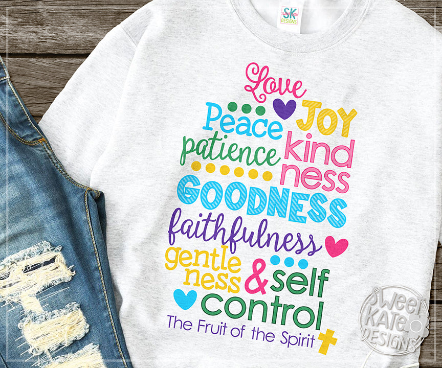 The Fruit Of The Spirit Svg Dxf Eps Png Jpg Sweet Kate Designs