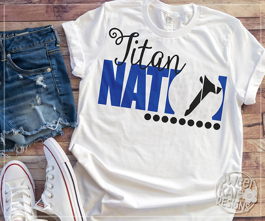 Titan Nation with Knockout Golf Ball SVG DXF EPS PNG JPG - Sweet Kate Designs
