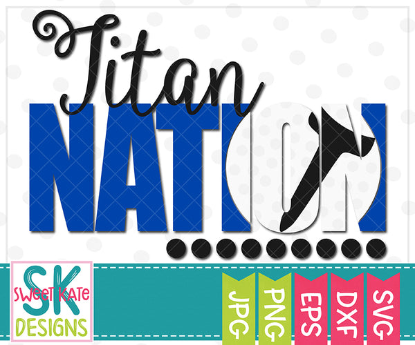 Titan Nation with Knockout Golf Ball SVG DXF EPS PNG JPG {NEW UNTIL 2/13}