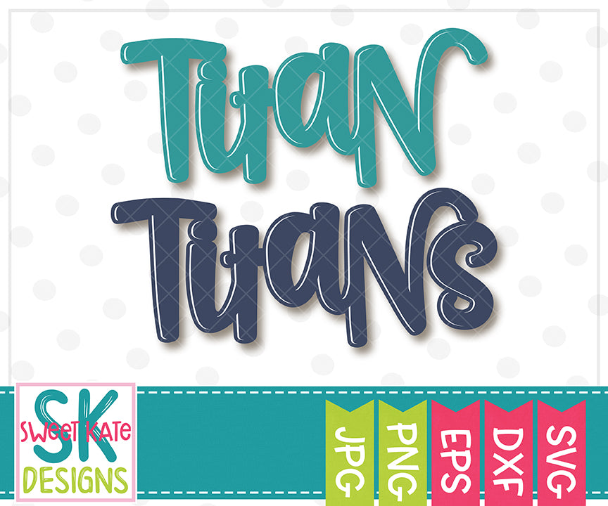 Titan/Titans SVG DXF EPS PNG JPG - Sweet Kate Designs
