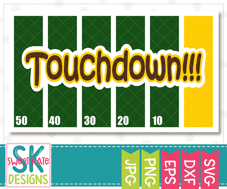 Touchdown with Field SVG DXF EPS PNG JPG - Sweet Kate Designs