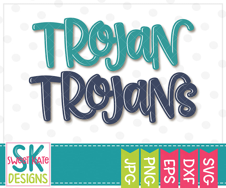 Trojan/Trojans SVG DXF EPS PNG JPG - Sweet Kate Designs