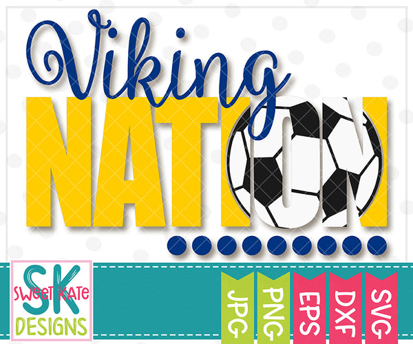 Viking Nation with Knockout Soccer Ball SVG DXF EPS PNG JPG