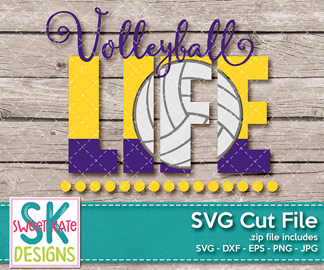Volleyball Life - Sweet Kate Designs