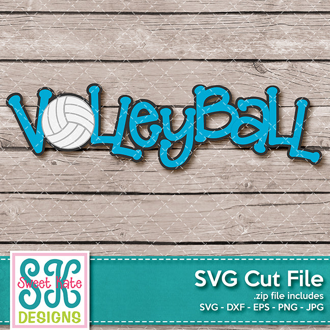 Volleyball Title SVG DXF EPS PNG JPG - Sweet Kate Designs