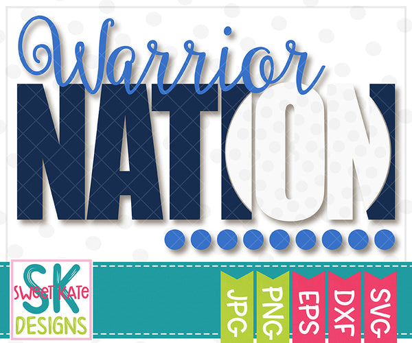 Warrior Nation with Knockout Golf Ball SVG DXF EPS PNG JPG - Sweet Kate Designs