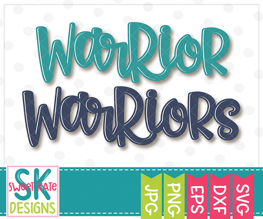 Warrior/Warriors SVG DXF EPS PNG JPG - Sweet Kate Designs