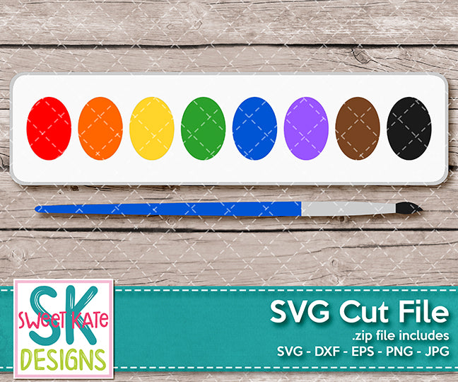 Watercolors SVG DXF EPS PNG JPG - Sweet Kate Designs