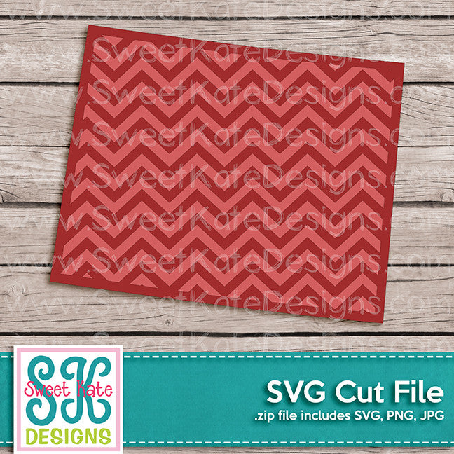Wyoming with Chevron Pattern SVG - Sweet Kate Designs