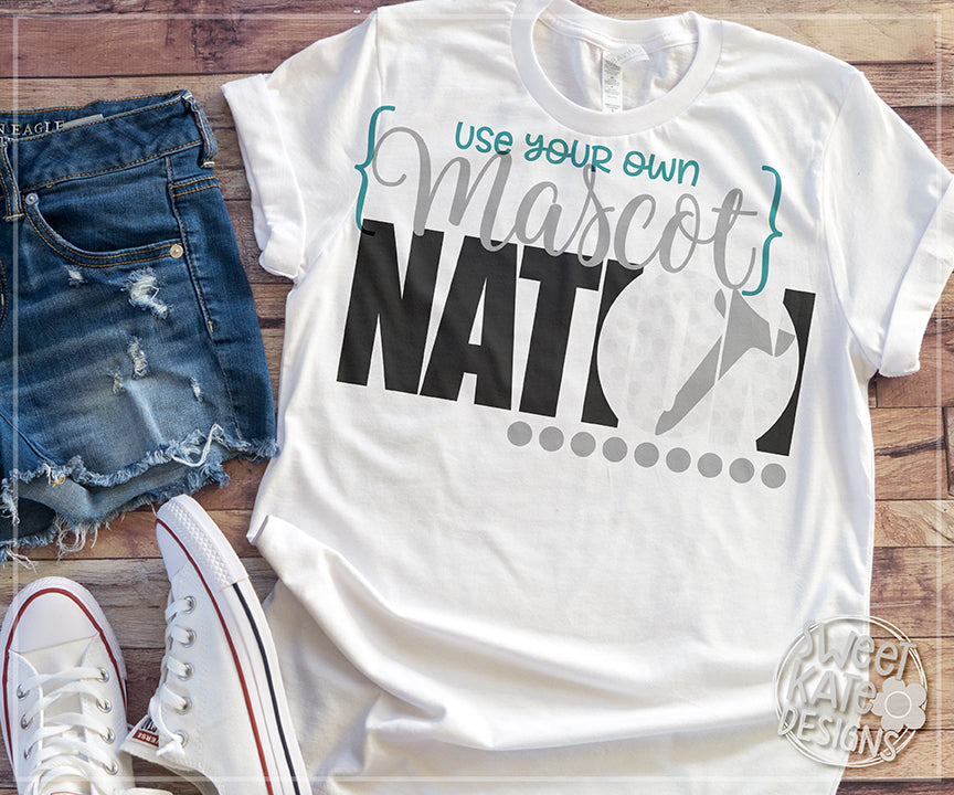 {YOUR MASCOT} Nation with Knockout Golf Ball SVG DXF EPS PNG JPG - Sweet Kate Designs