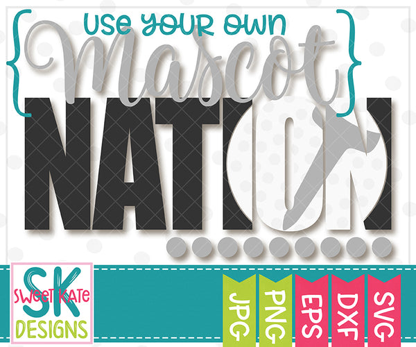 *NEW* {YOUR MASCOT} Nation with Knockout Golf Ball SVG DXF EPS PNG JPG - Sweet Kate Designs