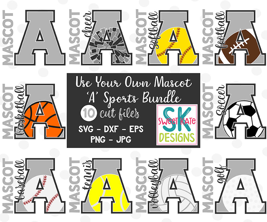 Your Own Mascot A Bundle SVG DXF EPS PNG JPG - Sweet Kate Designs