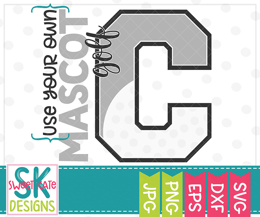 Your Own Mascot C Bundle SVG DXF EPS PNG JPG - Sweet Kate Designs
