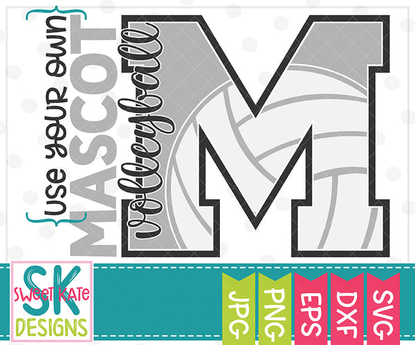 *NEW* Your Own Mascot M Volleyball SVG DXF EPS PNG JPG