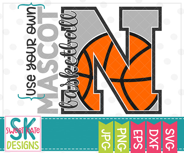 *NEW* Your Own Mascot N Basketball SVG DXF EPS PNG JPG - Sweet Kate Designs