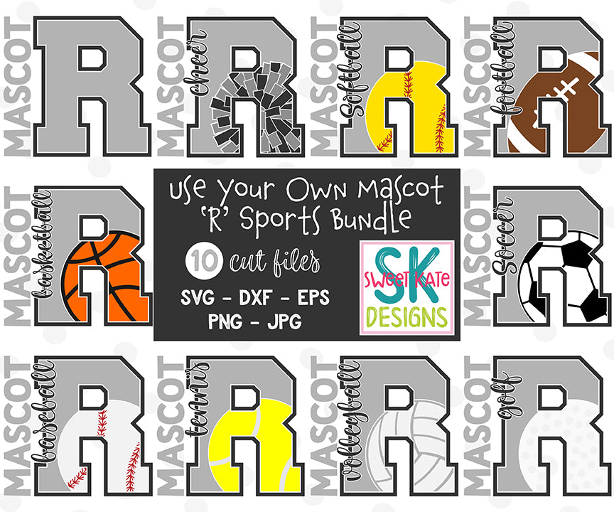 Your Own Mascot R Bundle SVG DXF EPS PNG JPG - Sweet Kate Designs