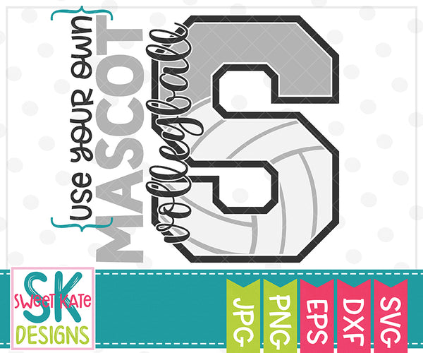 *NEW* Your Own Mascot S Volleyball SVG DXF EPS PNG JPG - Sweet Kate Designs