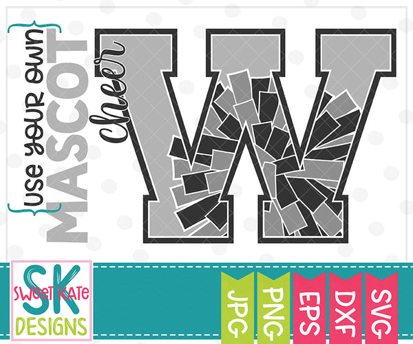 *NEW* Your Own Mascot W Cheer SVG DXF EPS PNG JPG - Sweet Kate Designs
