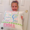 Golly Girls: Pastel Gymnastics Typography Pillow