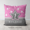 Personalized Figure Skating Among The Stars Throw Pillow