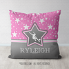 Personalized Soccer Among The Stars Throw Pillow - Golly Girls