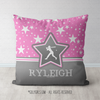 Personalized Softball Among The Stars Throw Pillow - Golly Girls