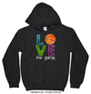 Golly Girls: Basketball Love The Game Black Hoodie (Youth & Adult Sizes)