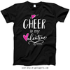 Golly Girls: Cheer is My Valentine Black T-Shirt (Youth & Adult Sizes)