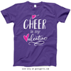 Golly Girls: Cheer is My Valentine Purple T-Shirt (Youth & Adult Sizes)