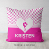 Personalized Cute Simple Pink Polka-Dots Figure Skating Throw Pillow - Golly Girls