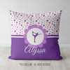 Cute Tiny Flowers Personalized Figure Skating Throw Pillow