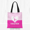 Golly Girls: Personalized Cute Simple Pink Polka-Dots Gymnastics Tote Bag