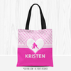 Golly Girls: Personalized Cute Simple Pink Polka-Dots Softball Tote Bag
