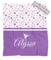 Golly Girls: Cute Tiny Flowers Personalized Dance Fleece Throw Blanket