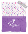 Golly Girls: Cute Tiny Flowers Personalized Martial Arts Fleece Throw Blanket