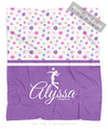 Golly Girls: Cute Tiny Flowers Personalized Volleyball Fleece Throw Blanket