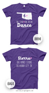 Golly Girls: Personalized One Team Dance Purple T-Shirt (Youth & Adult Sizes)