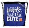 Golly Girls: Dribble Shoot Look Cute Basketball Blue Drawstring Backpack