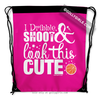 Golly Girls: Dribble Shoot Look Cute Basketball Pink Drawstring Backpack