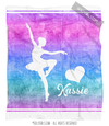 Golly Girls: Forever Love Personalized Dance Fleece Throw Blanket
