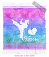 Golly Girls: Forever Love Personalized Martial Arts Fleece Throw Blanket