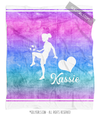 Golly Girls: Forever Love Personalized Soccer Fleece Throw Blanket