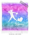 Golly Girls: Forever Love Personalized Softball Fleece Throw Blanket
